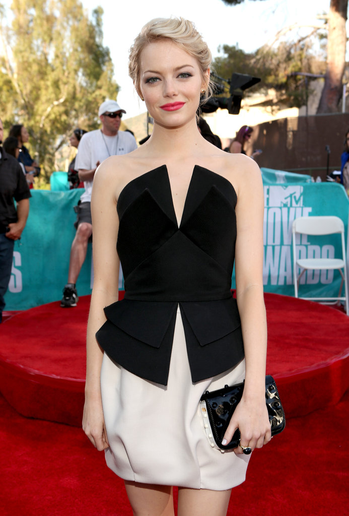Emma Stone at the 2012 MTV Movie Awards.