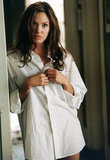 Angelina Jolie wore a simple white shirt in 2005's Mr. & Mrs. Smith Photo courtesy of Twentieth Century Fox