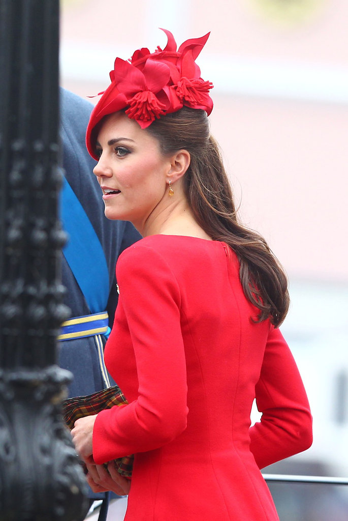 Kate Middleton arrived for the Diamond Jubilee Pageant.