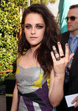 Kristen Stewart showed off her rings at the MTV Movie Awards.