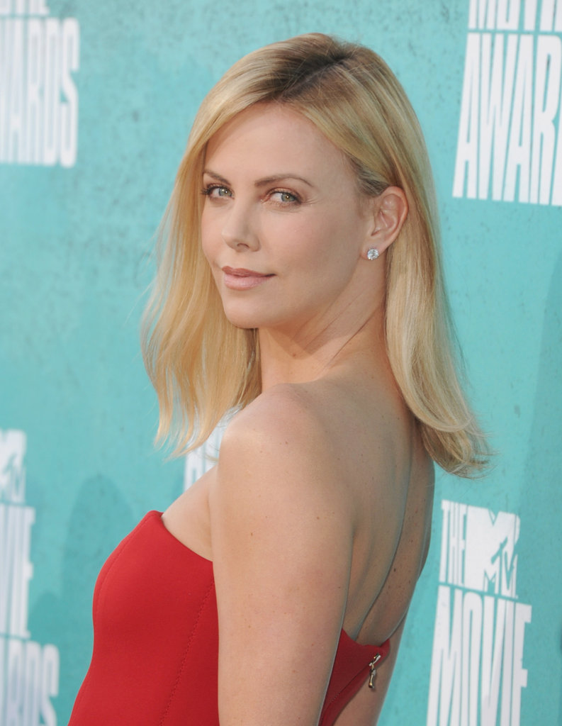Charlize Theron arrived at the MTV Movie Awards.