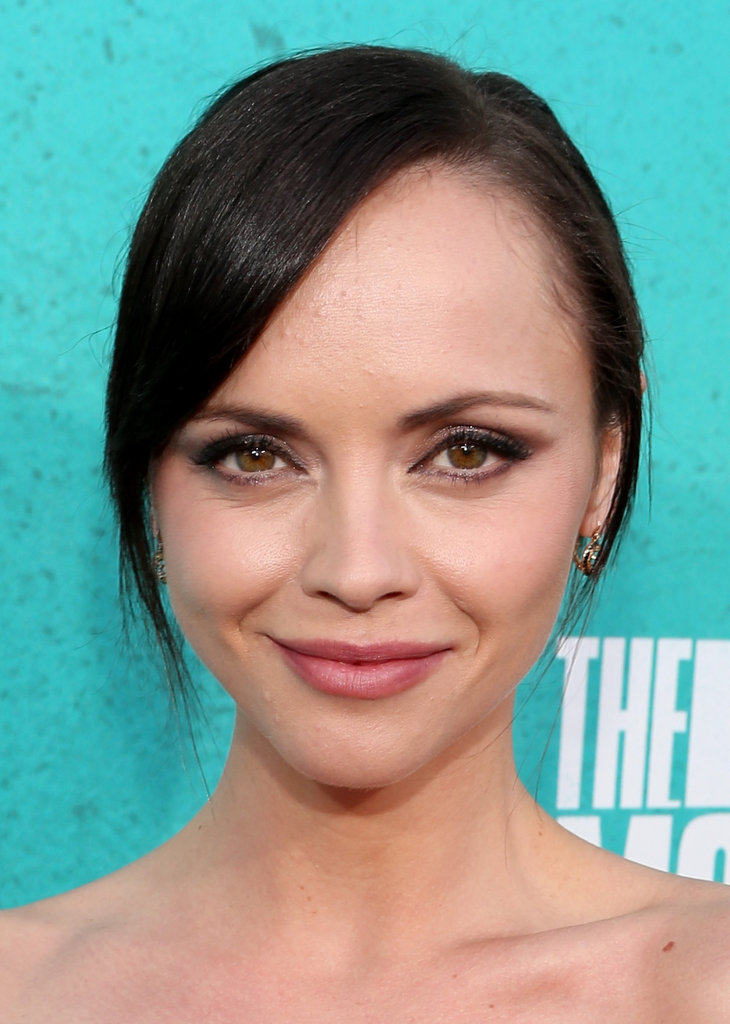 Christina Ricci smiled for the cameras.