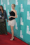 Emma Stone wore a minidress to the MTV Movie Awards.