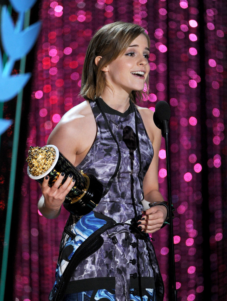 Emma Watson accepted her Popcorn.