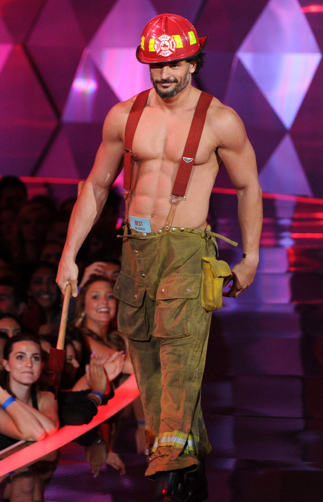 Magic Mike's Joe Manganiello showed up shirtless on stage.