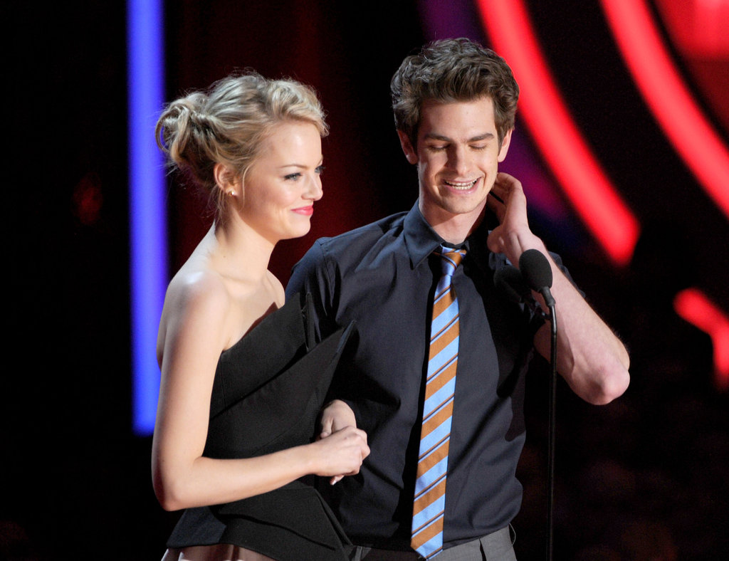 The Amazing Spider-Man's Emma Stone and Andrew Garfield graced the stage together.