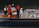 The queen's launch transported her down the river for the Thames Diamond Jubilee Pageant.