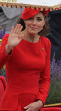 Kate waved from the royal barge.
