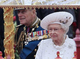 The queen had her main man, Prince Philip, by her side.