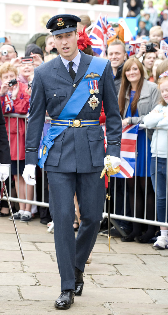 Prince William was dapper in his uniform.