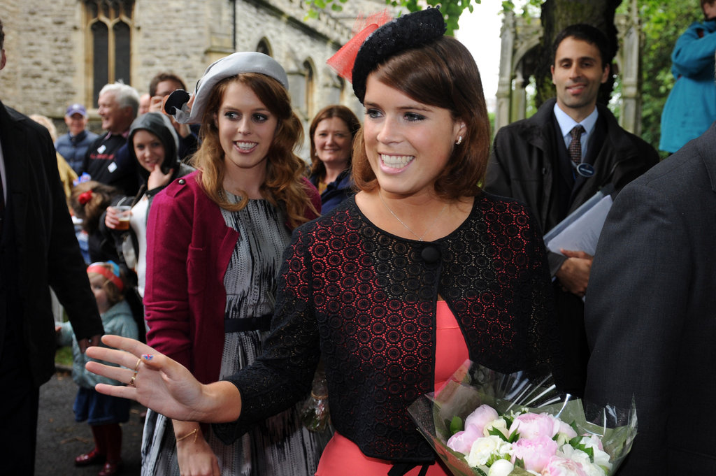 Princesses Beatrice and Eugenie greeted people at the Big Jubilee Lunch street party.