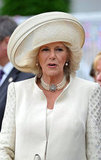 Camilla, duchess of Cornwall, arrived at the pier in a cream getup.