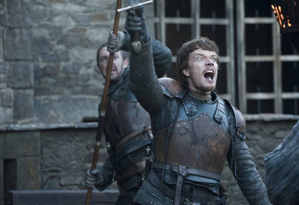 Alfie Allen as Theon on Game of Thrones.