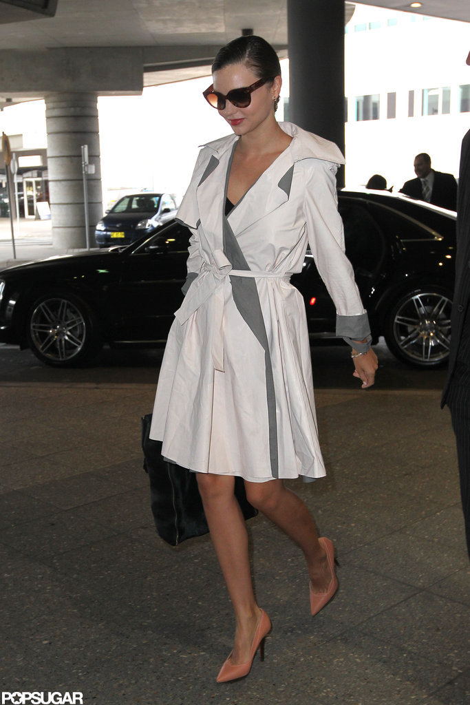 Miranda Kerr arrived at the airport.