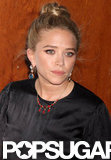 Mary-Kate Olsen wore chunky earrings and a high bun for the Fresh Air Fund's Spring Gala in NYC.