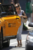 Sarah Jessica Parker hopped in a cab while running errands in NYC.