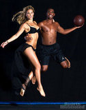Bar Refaeli posed in a sexy black bikini with basketball player Chris Paul for the 2012 Sports Illustrated Swimsuit Edition.