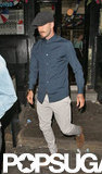 David Beckham was spotted leaving a pub in London after meeting with friends.