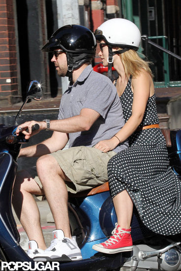 Olivia Wilde held on tight to her man as the couple rode around NYC.