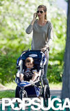 Gisele Bundchen took Ben to a Boston park.