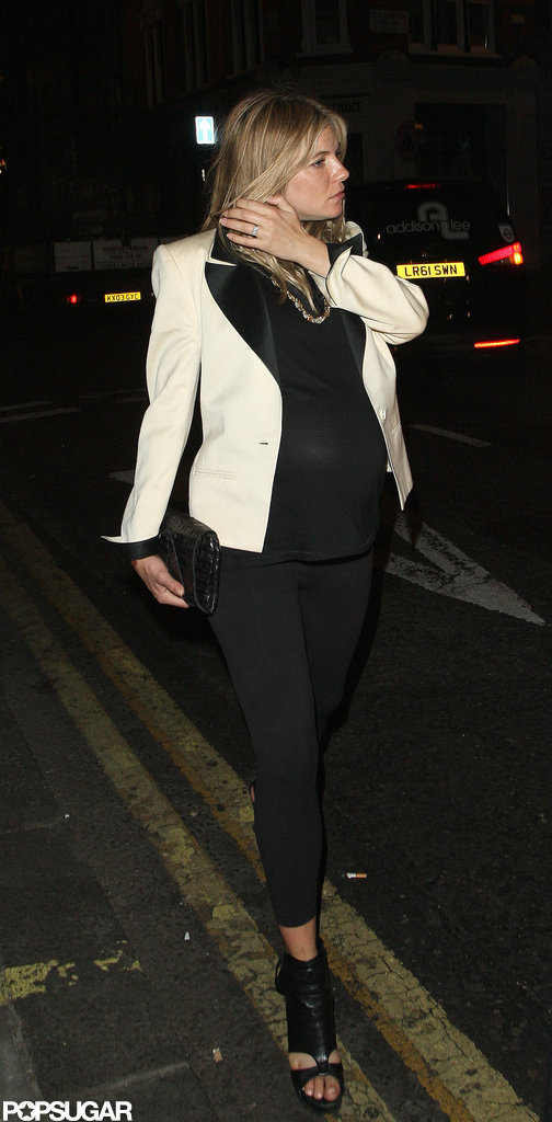 Pregnant Sienna Miller was out in London.