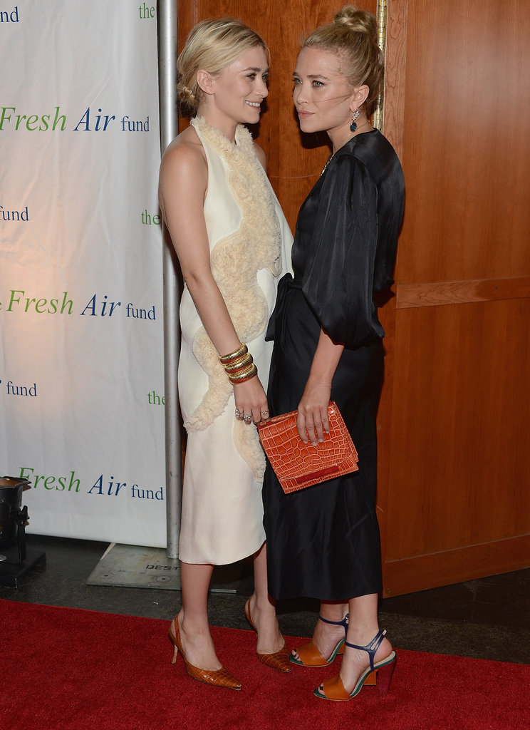 Mary-Kate Olsen and Ashley Olsen got dressed up to attend the Fresh Air Fund's Spring Gala in NYC.