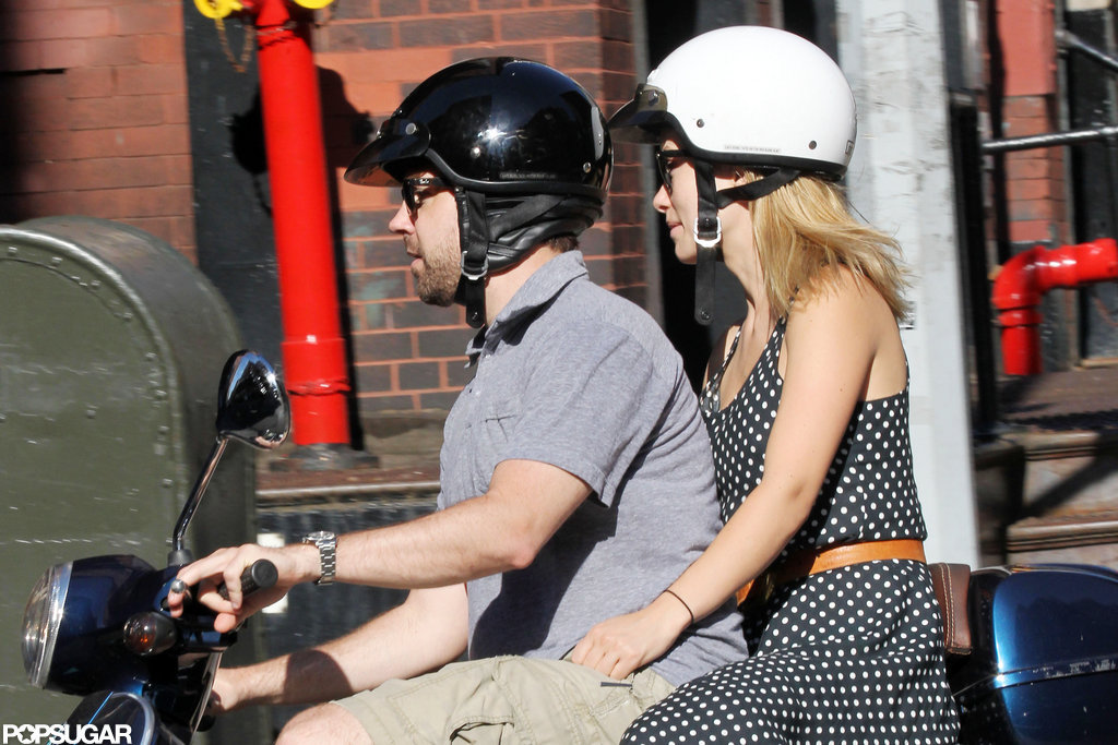Olivia Wilde and Jason Sudeikis spent an evening taking a Vespa ride together in NYC.