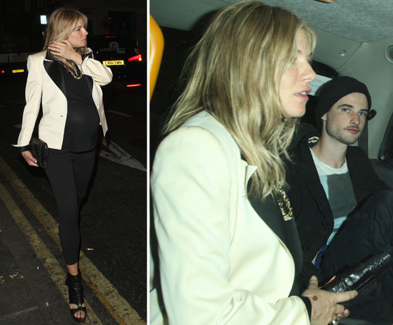 Pregnant Sienna Miller Has a Night Out on the Town With Tom Sturridge