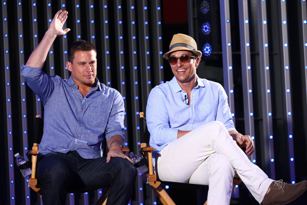 Channing Tatum raised his hand while Matthew McConaughey couldn't hold back a smile.