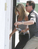 Jennifer Aniston went to a gym in LA.