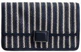 """I plan on swapping out my leather clutches for this woven raffia rendition. The navy and white stripes inject the perfect nautical touch."" — Chi Diem Chau, associate editor  Marc by Marc Jacobs Woven Clutch ($278)"