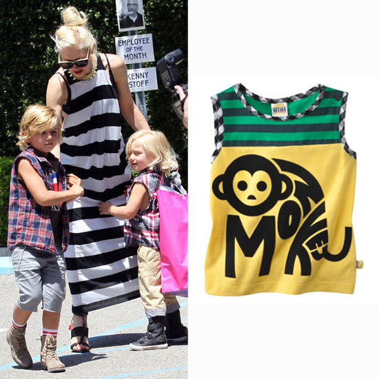 Gwen Stefani With Kingston and Zuma Rossdale