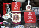 Royal memorabilia filled shop windows ahead of the big weekend.
