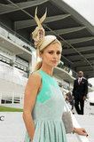 Laura Bailey, the face of this year's Investec Derby Festival, attended Ladies Day ahead of the queen's Diamond Jubilee weekend festivities.