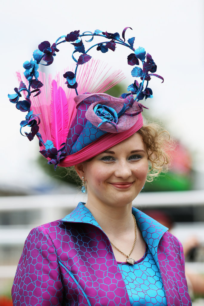 A racegoer made a statement with her bright and bold fascinator.