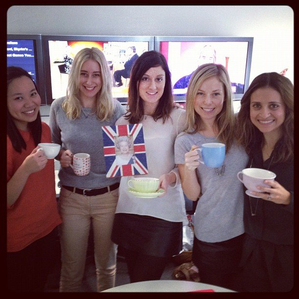 Celebrating the Jubilee! Bella ed Sarah is our resident Brit and really did framed a picture of the Queen.