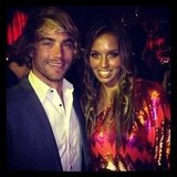 Hayden Quinn and Sally Fitzgibbons partied together at the Pedestrian Bachelorette of the Year crowning. Source: Instagram user elle__halliwell