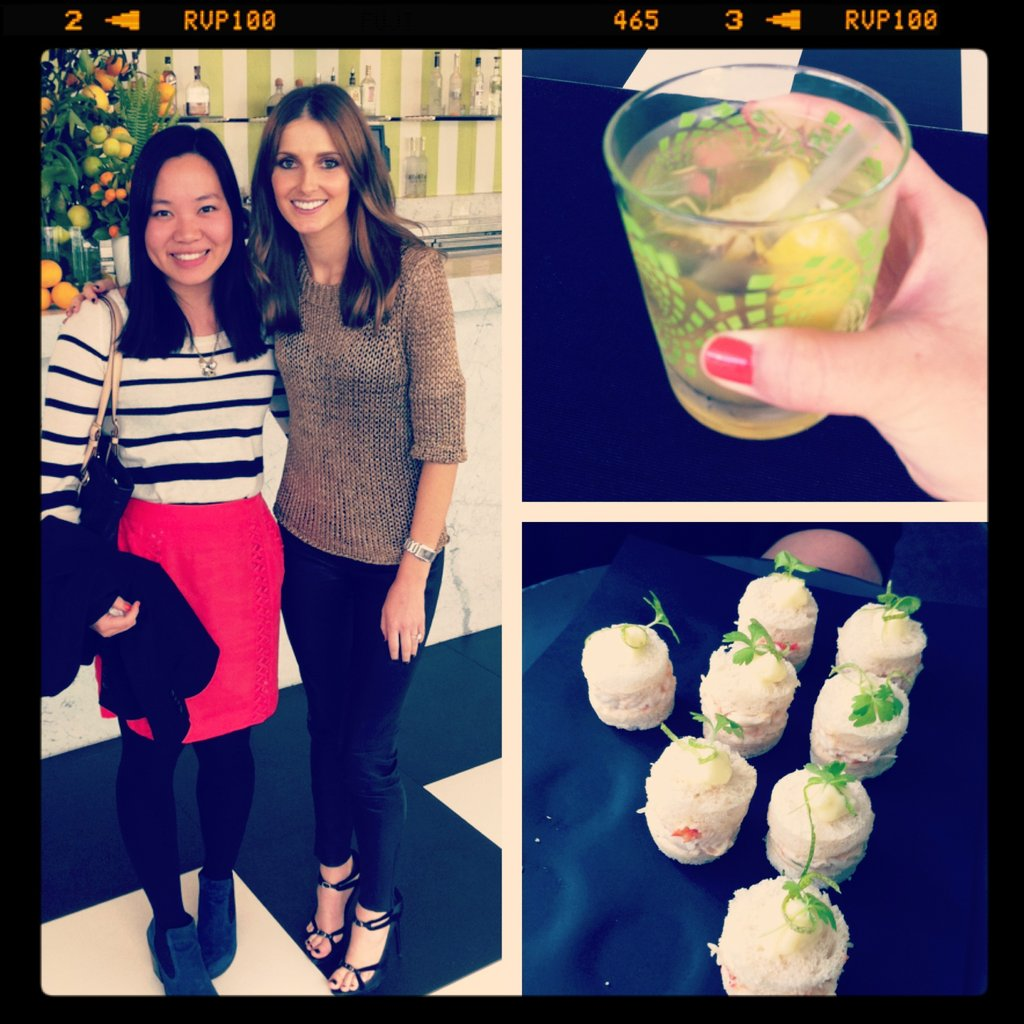 Style crush! Pop ed Jess had her own little date with Sun Herald fashion editor, Kate Waterhouse, at the Lipton Ice Green Tea Party held in the Sunroom at the Ivy.