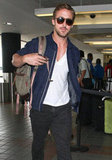 Hot Couple Ryan Gosling and Eva Mendes Jet Out of LA