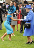 Katherine Jenkins shook hands with the queen.
