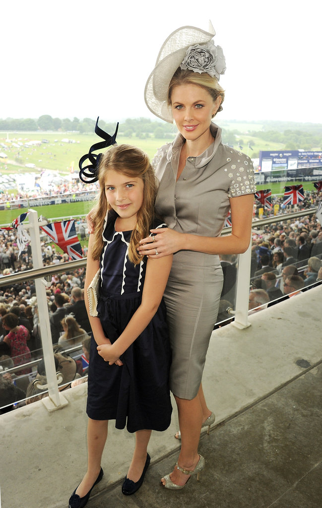 Presenter Donna Air was accompanied by daughter Freya Aspinall at the races.