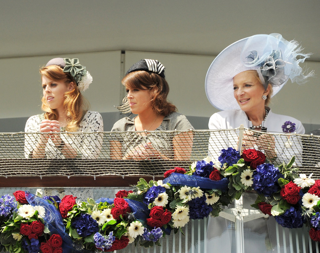 Princess Beatrice of York, Princess Eugenie of York, and Princess Michael of Kent watched the races.