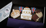 Diamond Jubilee biscuits were passed out to the racegoers.
