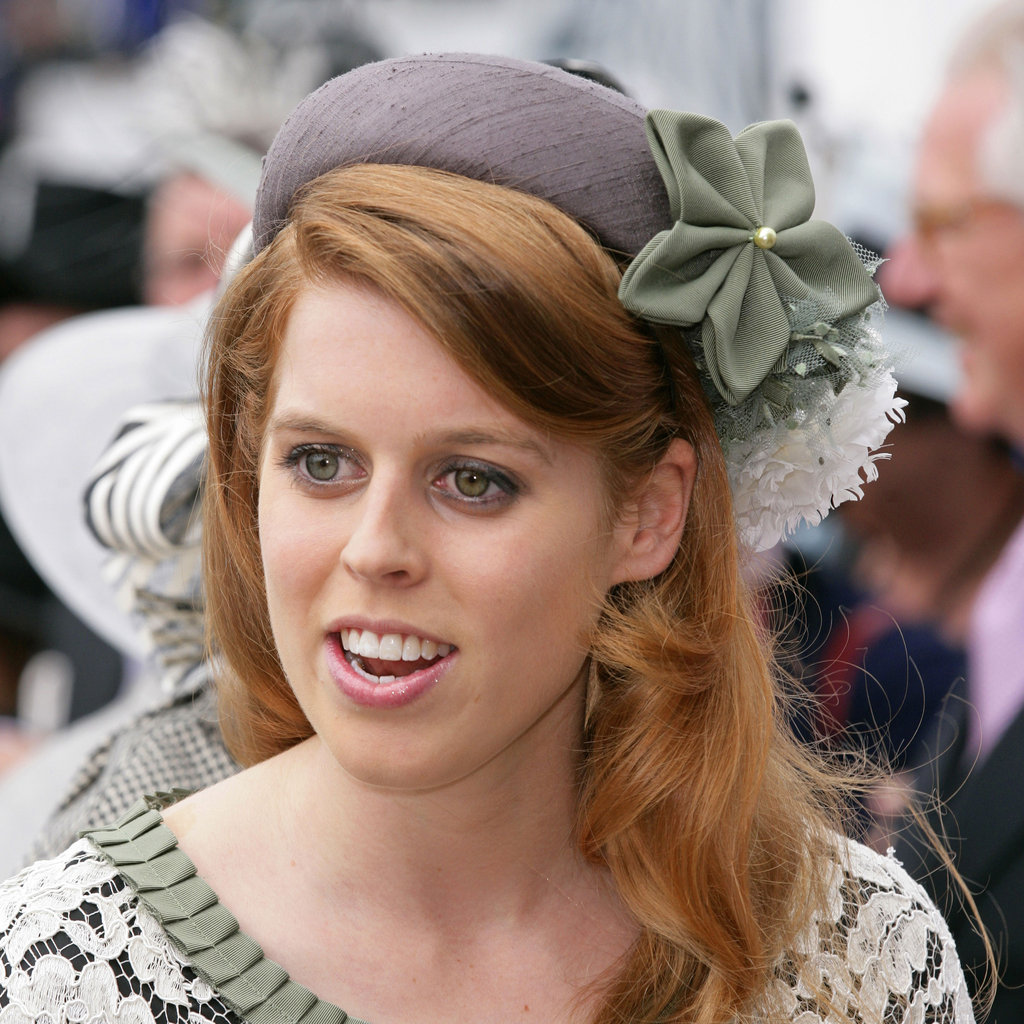 14. Princess Beatrice's Green and Gray Fascinator