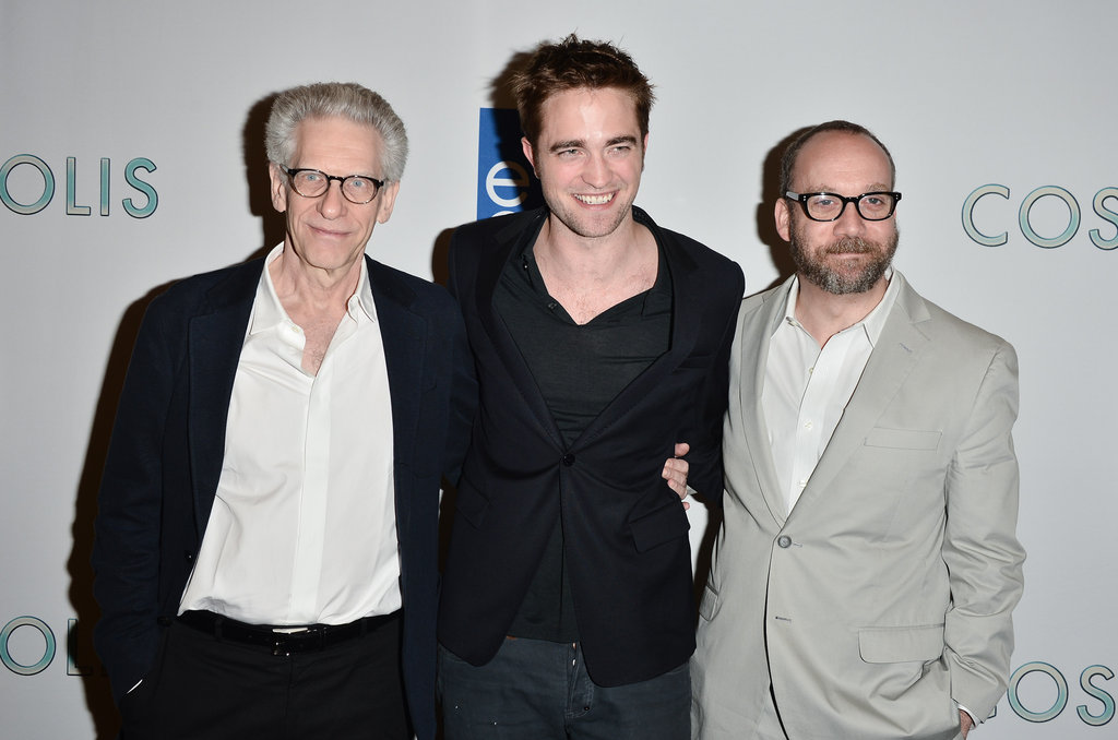 Robert Pattinson snapped a photo with Paul Giamatti and David Cronenberg.