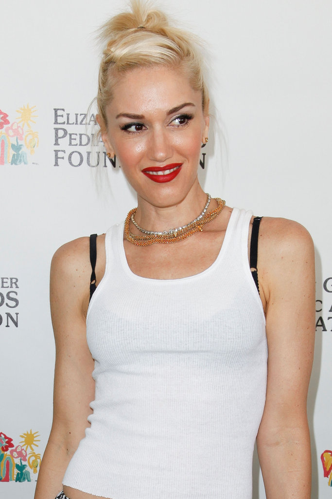 Gwen Stefani gave a smile at the annual A Time For Heroes Celebrity Picnic in LA.
