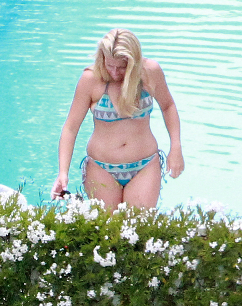 Busy Philipps wore a printed bikini.