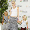 Gwen Stefani With Kingston and Zuma at Charity Event