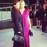Mary-Kate and Ashley Olsen posed together at the CFDA Awards. Source: Instagram User cfda