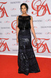Padma Lakshmi donned a superembellished Naeem Khan number for the night's festivities.